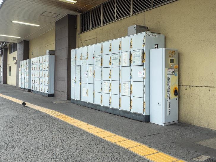 JR福山駅 北口タクシー乗り場前 コインロッカー