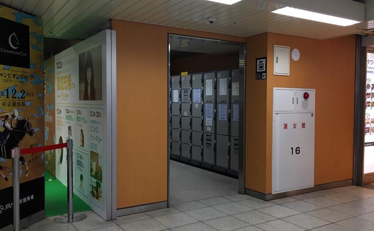 名鉄連絡階段下コインロッカー写真