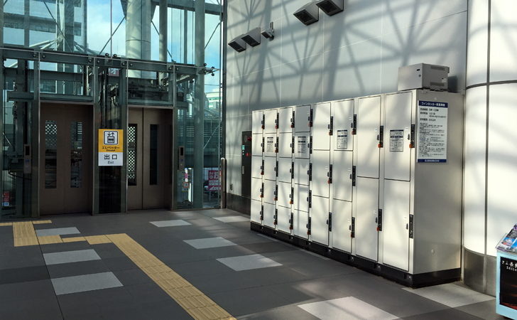 名鉄岐阜駅のコインロッカーの写真