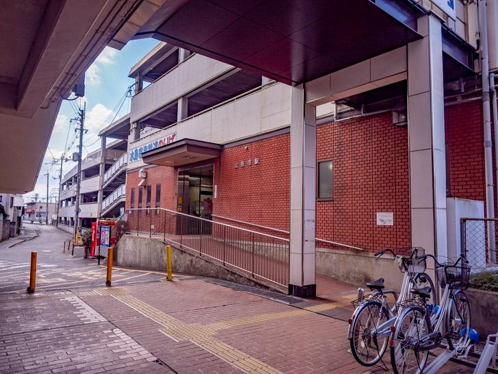 倉敷市駅 コインロッカー 道案内:倉敷市駅へ入る
