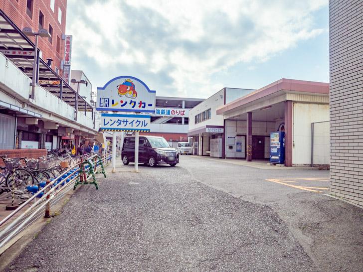 ジェイアール西日本岡山メンテック倉敷営業所・駅レンタカーの敷地のようす