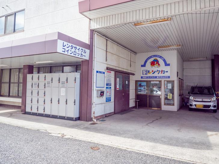 ジェイアール西日本岡山メンテック倉敷営業所・駅レンタカーのコインロッカーのようす