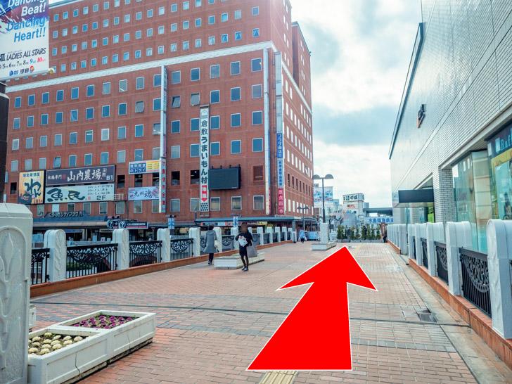倉敷駅前観光案内所 コインロッカー 道案内:南口を出たら右折し直進