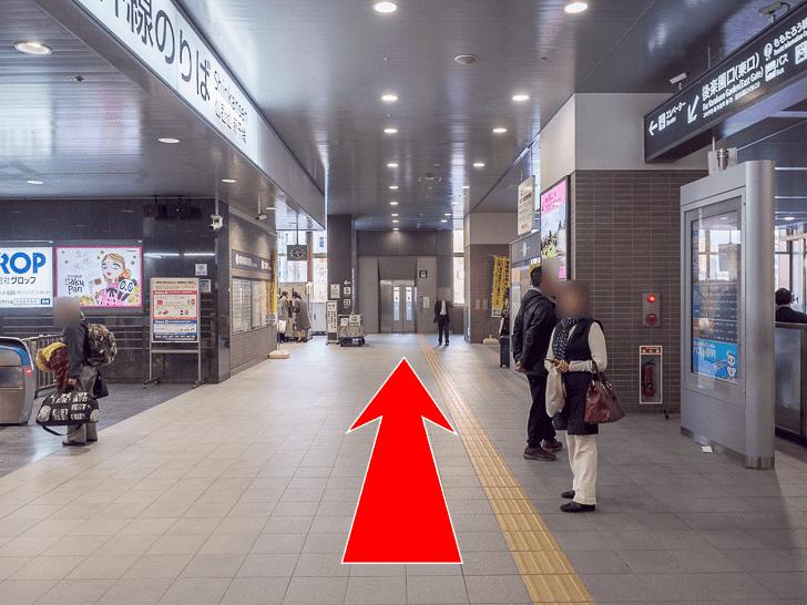 岡山駅 新幹線改札口南側ロッカーへの行き方 新幹線改札口を南へ直進