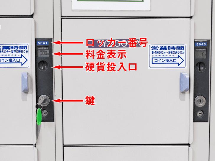 岡山駅 硬貨専用コインロッカーの案内