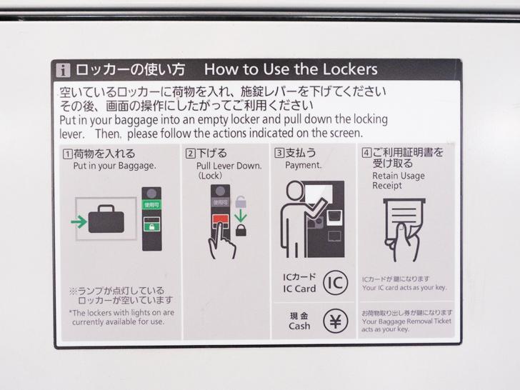 岡山駅 硬貨・ICOCA兼用コインロッカーの使い方