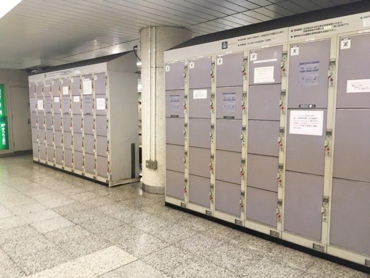 地下鉄五反田駅コインロッカー改札付近写真