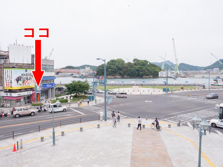 尾道駅(改装後)の駅前