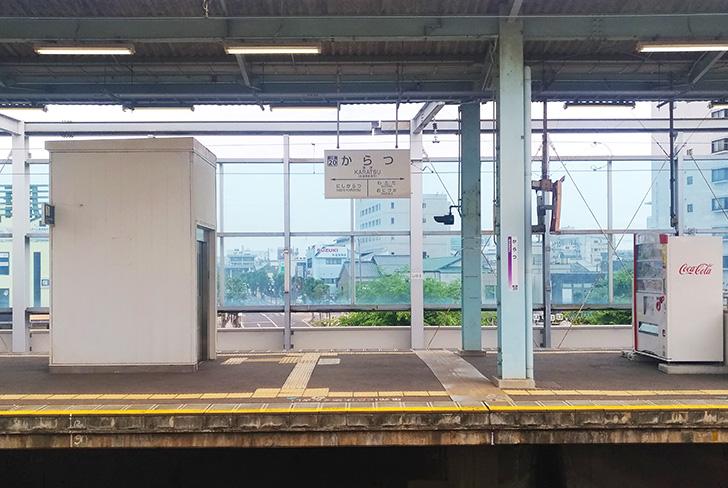 唐津駅ホーム