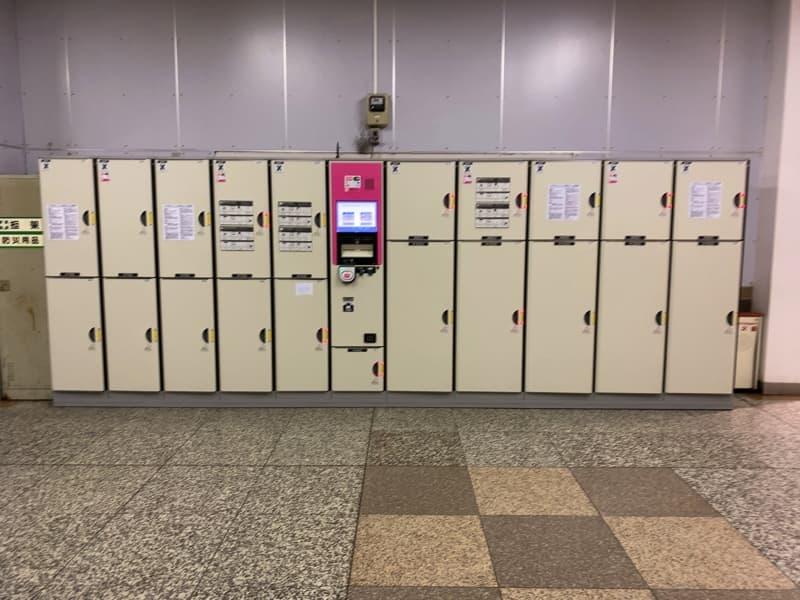 小田原駅東口のコインロッカー