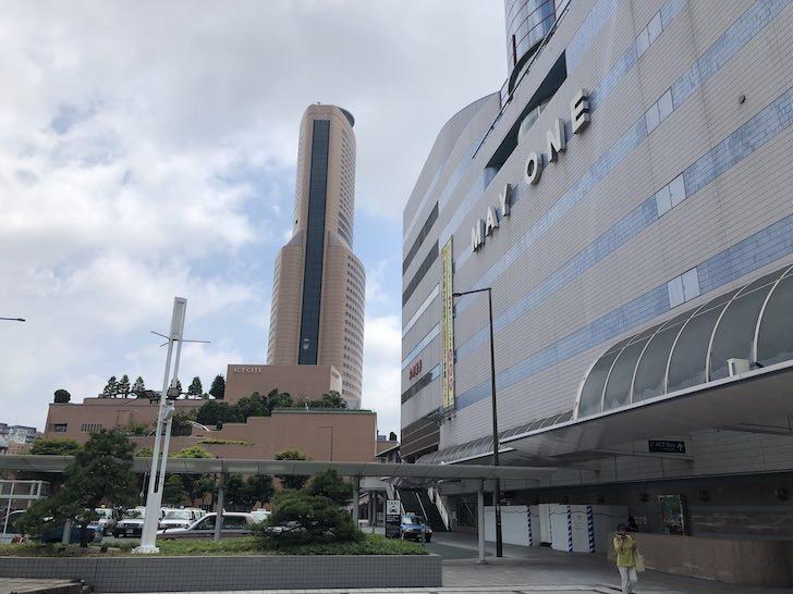 アクトシティと浜松駅ビルメイワン
