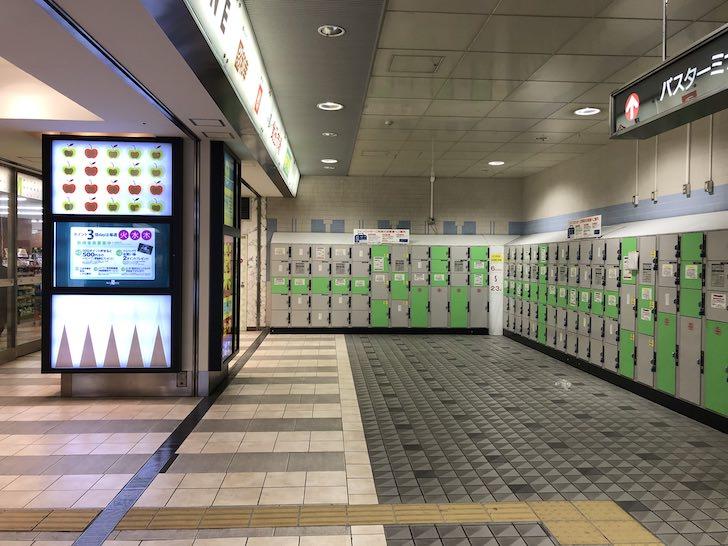 浜松駅北口地下メイビーワン前コインロッカー