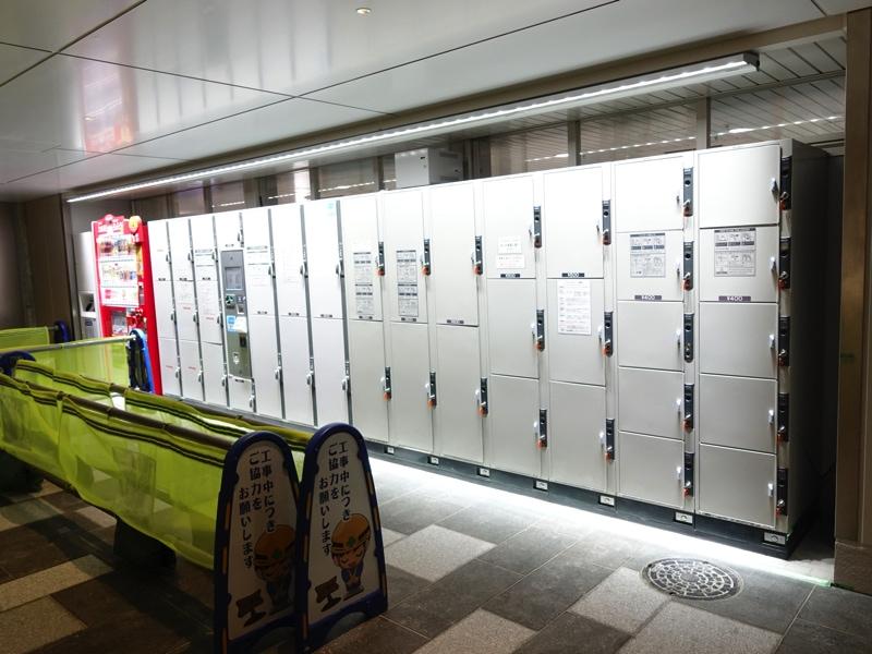 富山駅のコインロッカー