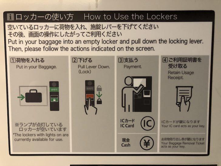 静岡駅コインロッカーの取り扱い方はこちら