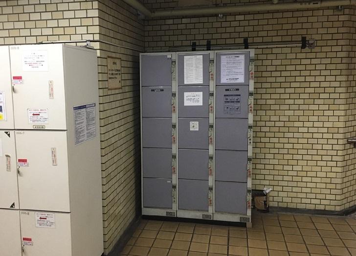 大須観音駅のコインロッカー